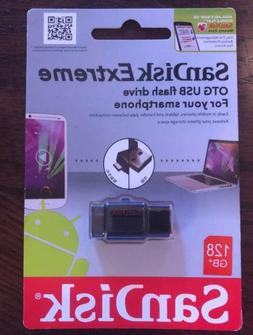 Sandisk 128gb Extreme Otg Flash Drive/USB For Smart Phone