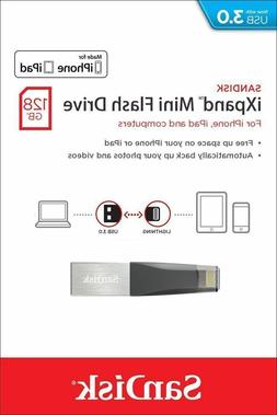 SanDisk iXpand Mini 128GB OTG Lightning USB 3.0 Flash Drive