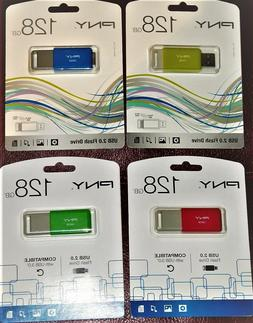 PNY 128GB USB 2.0 Flash Drive Choose Color New Free Shipping