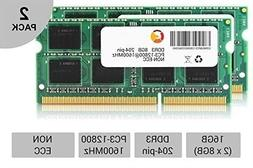 16GB DDR3 1600Mhz PC3 -12800 sodimm Laptop memory RAM PACK 2
