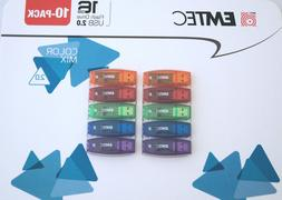 EMTEC 16GB Flash Drive USB 2.0 10 Pack