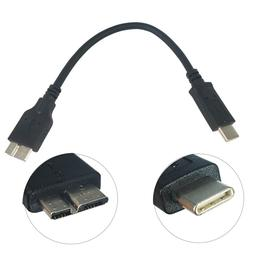 17cm USB 3.1 Type-C to USB 3.0 Micro B Cable Connector For H
