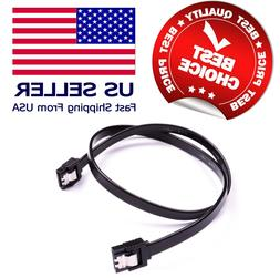 "18"" SATA 3.0 Cable 6GB/s for SATA DVD HDD Hard Drive Black N"