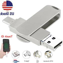 1TB 128GB USB 3.0 Flash Drive Memory Stick Type C 4in1 For i