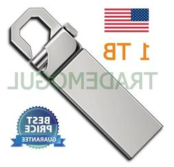1TB 1T USB 2.0 Memory Silver Hook Flash Drive! USA SELLER!