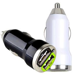 2 USB Port Car Charger Adapter 3.1A For iPhone 4 5 6 LG HTC