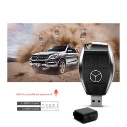 256G Car Key Model Benz USB 2.0 Flash Drive Memory Card Stic