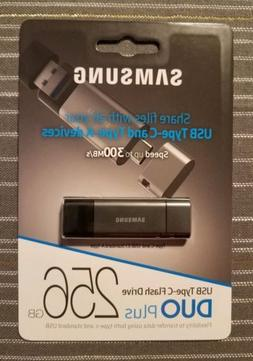 Samsung 256G DUO Plus USB 3.1 Flash Drive, Speed Up to 300MB