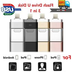 256GB i Flash Drive USB Memory Stick U Disk 3 in 1 for Andro