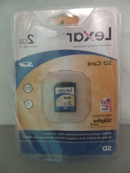 Lexar 2GB SD Card - Brand New in Sealed Package