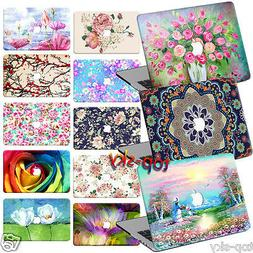 2IN1 Decal Print Hard Shell Smart Case Covers for Laptop Mac