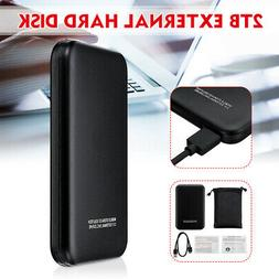 2TB Ultra Thin External Hard Disk Drives SATA Mobile Solid S