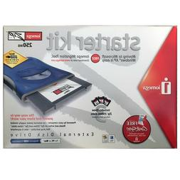 Iomega 31653 USB-Powered Zip 250MB Starter Kit Disk Drive, M