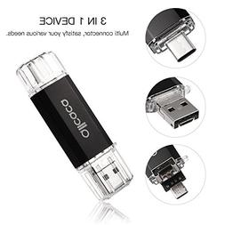 ALLCACA 32/64GB USB 2.0 Flash Drive OTG Memory Type C USB Co