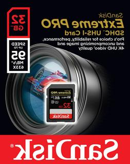 SanDisk 32GB 32G Extreme PRO SD SDHC SDXC Card 95MB/s Class