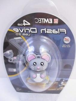 EMTEC - 4 GB USB 2.0 FLASH DRIVE - MOUSE ANIMAL - NEW UNOPEN