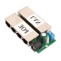 uxcell 4 LAN POE Ports Module Injector Power Over Ethernet R