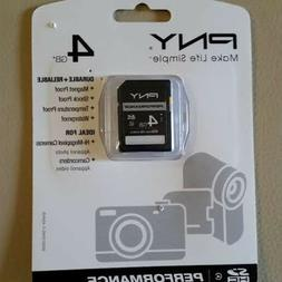 4GB SD CARD PNY PERFORMANCE  BRAND NEW UNOPENED  FOR CAMER