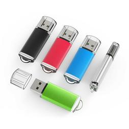 Kootion 5 Color 5 Pack 2GB Cap Design USB 2.0 Flash Drives M