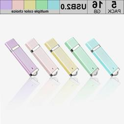5 PACK 1G 2G 4G 8G 16G USB 2.0 Flash Drive Memory Stick Flas