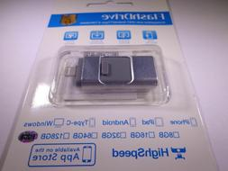 512GB 3 in 1 USB Flash Drive Memory Stick for iPhone IOS OTG