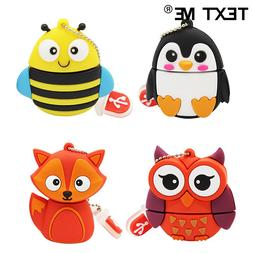 TEXT ME 64GB cartoon Penguin owl fox style <font><b>usb</b><
