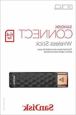 SanDisk 64GB CONNECT Wireless USB 2.0 Stick Wi-Fi Drive Medi