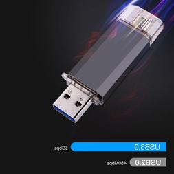 KOOTION 32GB 64GB OTG Type C Dual USB 3.0 Flash Drive Thumb