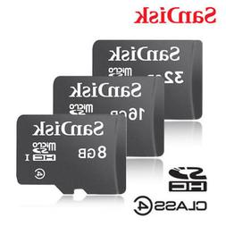 SanDisk 8GB 16GB 32GB Micro SD Card TF Class 4 Android Ninte