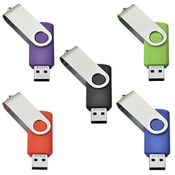 5pcs 2GB Swivel Design USB 2.0 Flash Drive Memory Stick