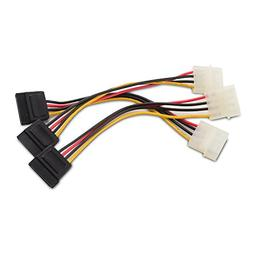 Cable Matters 3-Pack 4 Pin Molex to SATA Power Cable  - 6 In