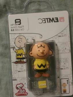 "EMTEC USB Flash Drive 8GB Stick 2.0 Peanuts "" Charlie Brown"