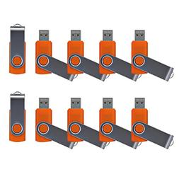 Enfain USB 2.0 Flash Drives - 10 Pack