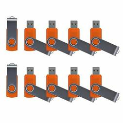 Enfain 8GB USB 2.0 Flash Drive Bulk Thumb Drive Swivel Memor