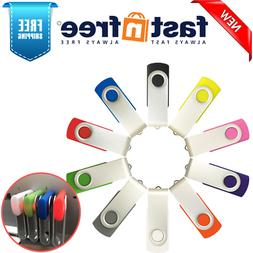 Enfain 10 Pack 2GB USB2.0 Flash Drives MultiColor Bulk Pack