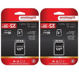 Gigastone MicroSD HC 32GB C10 U1 With SD Adapter 2-Pack Bund