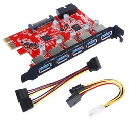 Inateck PCI-E to USB 3.0 PCI Express Card and 15-Pin Power C