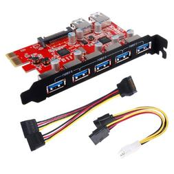 Inateck Superspeed 7 Ports PCI-E to USB 3.0 Expansion Card -