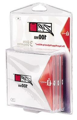 Iomega Zip Disk 100MB 3 Pack Formatted for PC in Clamshell P