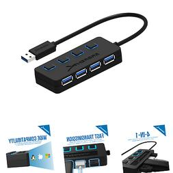 Sabrent 4-Port USB 3.0 Hub with Individual LED Power Switche