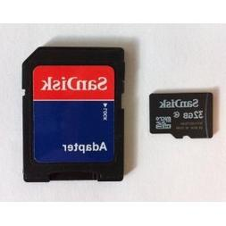 SanDisk 32GB MicroSDHC High Speed Class 4 Card with MicroSD