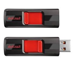 SanDisk Cruzer CZ36 8GB USB 2.0 Flash Drive , 2 Pack, Frustr