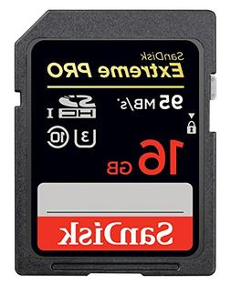 SanDisk Extreme PRO 16GB up to 95MB/s UHS-I/U3 SDHC Flash Me