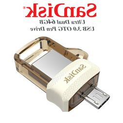 SanDisk Gold Ultra 64GB Dual Drive m3.0/USB3.0 for Android D