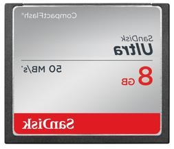 SanDisk Ultra 8GB Compact Flash Memory Card Speed Up To 50MB