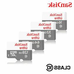Sandisk 16GB 32GB 64GB 128GB Micro SD Class 10 Flash Memory