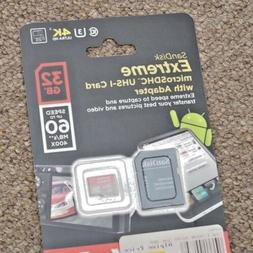 Sandisk 32GB Extreme MicroSDHC UHS-I Card
