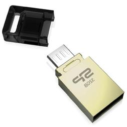 Silicon Power Mobile X10 32GB USB 2.0 OTG Flash Drive for An