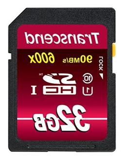 Transcend 32GB SDHC Class 10 UHS-1 Flash Memory Card Up to 9