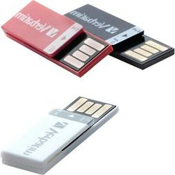 Verbatim 8GB Clip-It USB Flash Drive - 3pk - Black, White, R